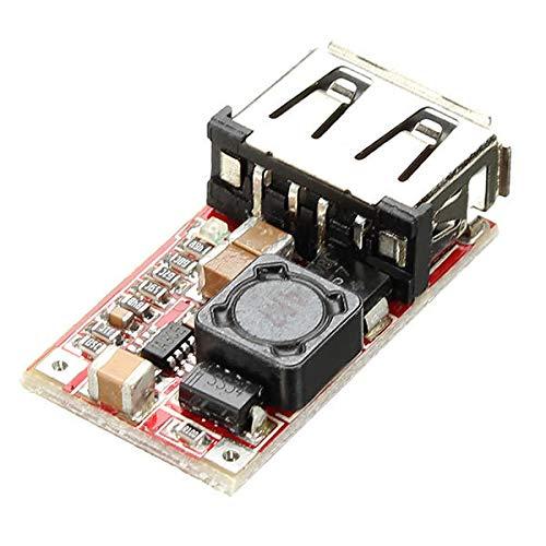YALIXING Módulos Step-Up y Step-Down 5pcs DC-DC Módulo de Buck 6-24V 12V / 24V a 5V 3A USB Paso Abajo Fuente de alimentación Eficiencia del Cargador 97.5% Accesorios electrónicos estables
