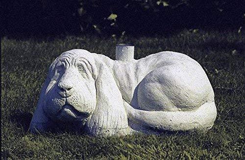 pompidu-living Schirmständer, Steinguss, schwer Hund Farbe Sandstein