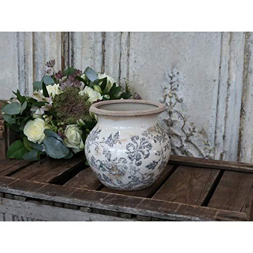 Chic Antique Übertopf ° Frz. Muster° Vintage Shabby ° Vase Pflanztopf