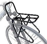 JXS-outdoor Delante del Estante del Pannier - Bicicletas de montaña - Material Acero no es fácil de Rust - Puede Transportar 15 kg