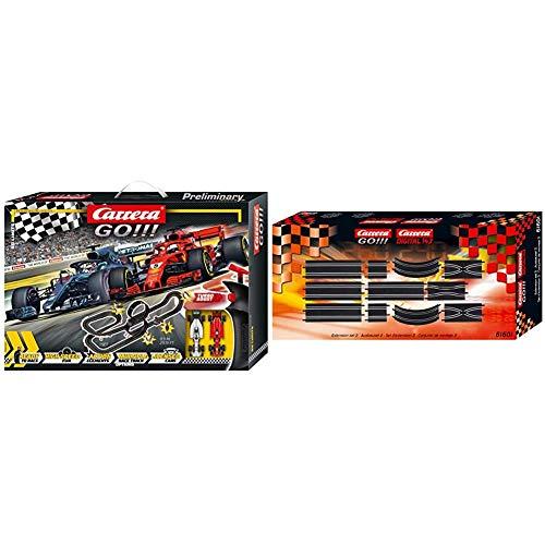 Carrera GO!!! No Limits Rennstrecken-Set | 8,9m elektrische Rennbahn mit Ferrari SF71H & Mercedes-AMG F1 W09 EQ Power+ & GO!!! Ausbauset 2 20061601 Erweiterungsartikel