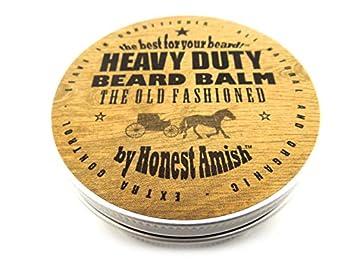 Honest Amish Heavy Duty Beard Balm -New Large 4 Ounce Twist Tin