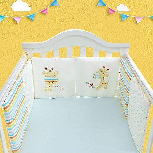 Freahap 6pcs Bebé Juego de ropa de cama Cuna bebé berenjen
