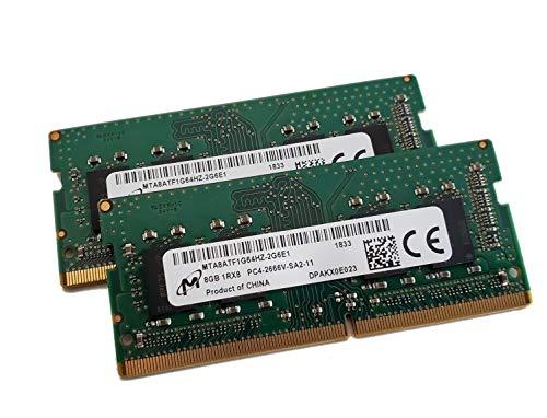 Genuine OEM Laptop Ram MTA8ATF1G64HZ-2G6E1 16GB (2x8GB) PC4-21300 DDR4-2666MHz Non-ECC Unbuffered 260-Pin 1.2V DDR4