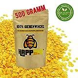 HappBee 500 Gramm Vorteilspack 100% Reine natürliche Premium Marken Bienenwachs Pastillen (cera...
