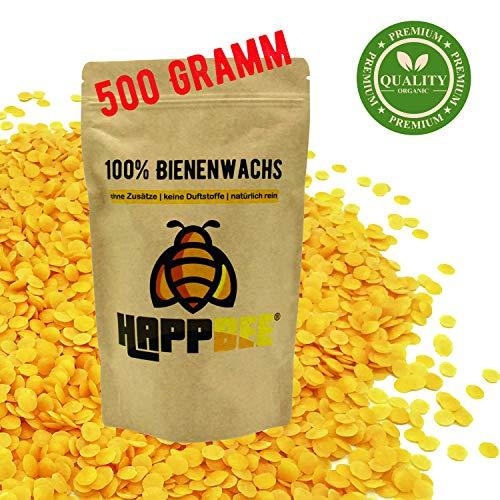 HappBee Pastillas Cera Abeja Premium 100% Marcas Naturales