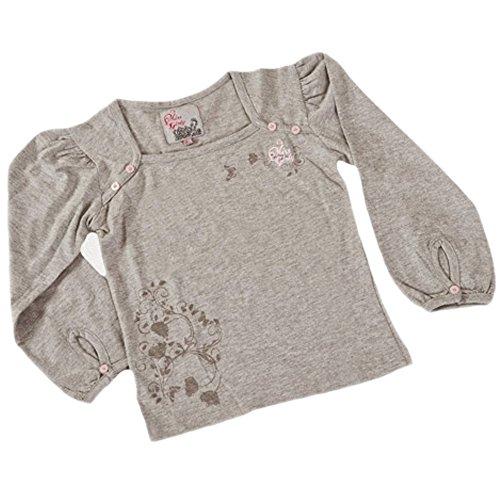 Tout 1 monde- Camiseta de manga larga canastilla niña 6/23 mois BURYLON- gris-18 mois