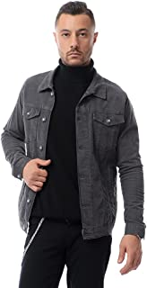 Buttoned Washed Casual Jacket Dark