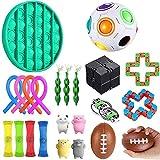 fidget toy Sensory Fidget Toys,Juego de Juguetes sensoriales Fidget Toys para niños y Adultos Alivia el estrés y la ansiedad Surtido de Juguetes Especiales para niños y Adultos