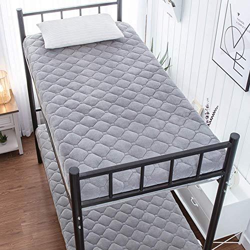 HFMY Futon Mattress Soft 6cm Thick Flannel Mattress Pad, Japanese Tatami Floor Mat Student Dormitory Folding Mattress for All Season Cozy Warm, Breathable,Gray,70x140cm(28x55inch)