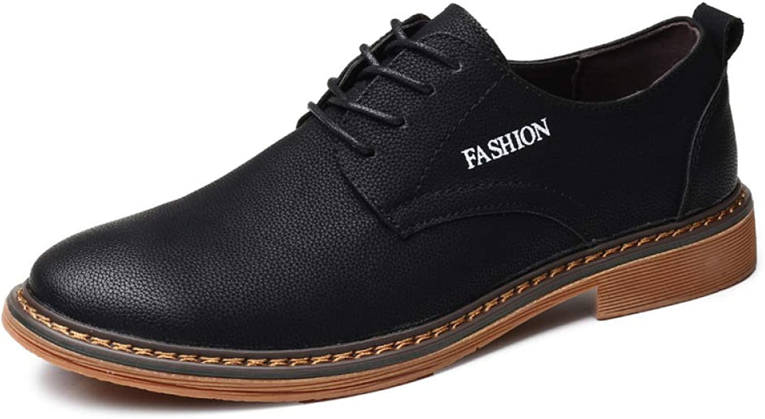 Men's shoes Low shoes Casual Fashion Retro Leather British Korean Version of Breathable Tooling shoes