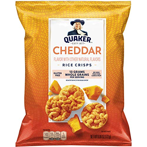 Quaker Rice Crisps, Cheddar, 6.06 Ounces