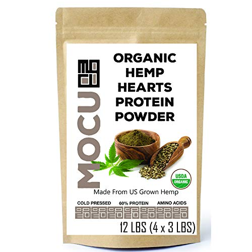 Organic Hemp Heart Protein Powder (60%) | 12 LBS | Cold Processed & Cold Stored | Made from The Hemp Heart | 20 Grams Protein Per Serving
