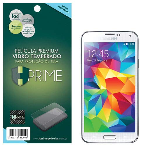 Pelicula de Vidro temperado 9h HPrime para Samsung Galaxy S5, Hprime, Película Protetora de Tela para Celular, Transparente