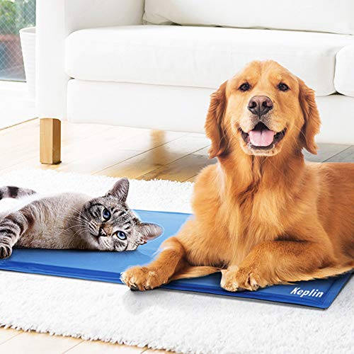 KEPLIN Zelf Koelen Gel Huisdier Hond Kat Koele Mat Pad Bed Matraswarmte Relief Niet-Toxisch Blauw [Energie Klasse A+]