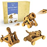 Da Vinci Woodworking Catapult Kits for Kids | Kids Wood Battleground Crossbow Model Kits Building Projects | STEM Crafts Kit for Boys and Girls Age 8 9 10 11 12 14