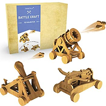 Da Vinci Woodworking Catapult Kits for Kids   Kids Wood Battleground Crossbow Model Kits Building Projects   STEM Crafts Kit for Boys and Girls Age 8 9 10 11 12 14