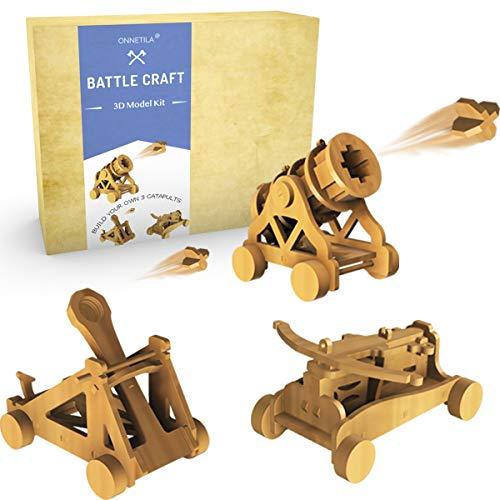 Da Vinci Woodworking Catapult Kits for Kids | Kids Wood Battleground Crossbow...