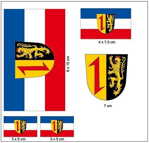 Aufkleber Set Mannheim Fahne Flagge