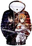 YOYOSHome Anime Sword Art Online Cosplay Asuna Hoodie Jacket Costume Sweater Fleeces