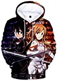 YOYOSHome Anime Sword Art Online Cosplay Asuna Sudadera con capucha para disfraz - - XXX-Large