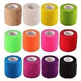 Chi yue Self-Adhesive Elastic Wrap Bandage Tape(2...