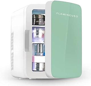Flamingueo Kühlschrank - Kleiner Kühlschrank 10L, Retro Kühlschrank, Kosmetik Kühlschrank 12V/220V, Skincare Fridge, Funktionen zum Kühlen und Heizen, Minikühlschränke, Outdoor Kühlschrank