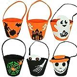 Lushi - Bolsa para caramelos de Halloween para niños, Mezcla y combina 6 bolsas de calabaza., reference picture