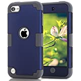 Case for iPod 7 6 5- CheerShare iPod Touch 5 6 7 Case, The Best Silicone Shockproof High Impact Layered Case +...