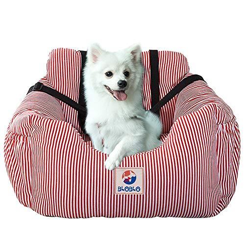 BLOBLO Dog Car Seat Pet Booster Seat Pet Travel Safety Car Seat Dog Bed for Car with Storage Pocket...