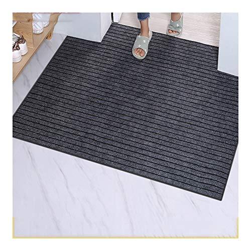 La estera del piso del súper antideslizante, la estera de la puerta, el gris también se puede utilizar para mascotas, material de poliéster, seguro e inofensivo ( Color : Gris , tamaño : 50×80CM )