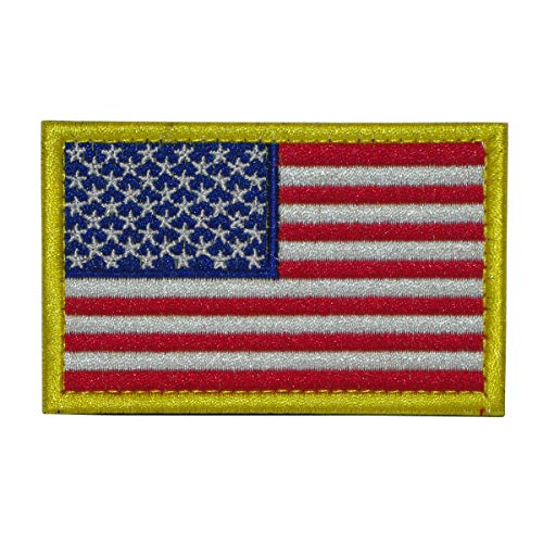 Cobra Tactical Solutions Flagge USA United States Patch Bestickt Militar Patch mit Klettverschluss für Airsoft Paintball für Taktische Rucksack Kleidung.