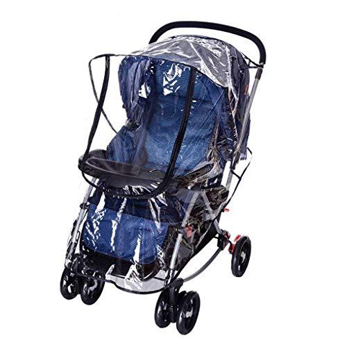 XASY Universal Kinderwagen Regenschutz, Regencover Regenhülle für Kinderwagen Buggy Regen-Abdeckung mit Doppel-Reißverschluss Öffnung Sichtfenster, Transparent PEVA Material, gegen Wind Regen Wetter