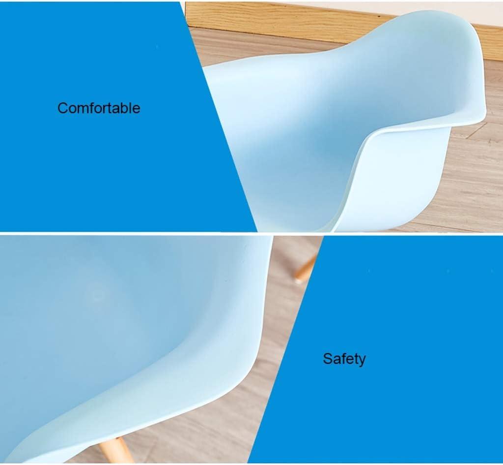 SLL- Chaise de Salle, Chaise de Bureau Simple, créative Dossier, Chaise Loisirs, Maison Adulte Chaise de Salle Moderne (Color : Yellow) Blue