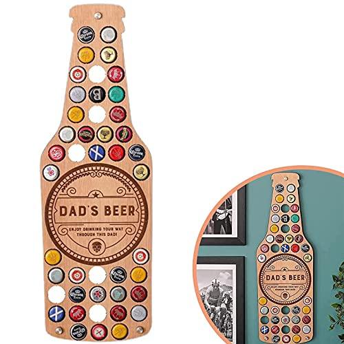 Soporte de Tapa de Botella de Cerveza, Colección de Tapas de Cerveza Soporte de Decoración Arte de Exhibición para Amantes de La Cerveza Artesanal Soporte de Tapa de Botella, Regalos para Padr