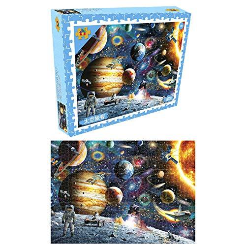 DishyKooker Jigsaw Puzzles 1000 Stück Artistic Fine Space Stars Frühes Lernspielzeug Umweltschutz Tinte Geruchlos für Erwachsene Kinder Weihnachten Halloween Twilight City Puzzles