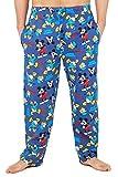 Disney Pijama Hombre De Mickey Y El Pato Donald, Pantalon Pijama De Algodon, Tallas Grandes Hombres, Regalos Adultos (Azul, L)