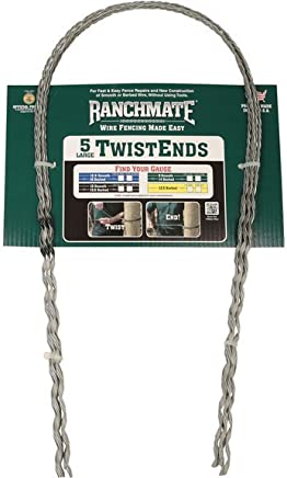 19.25 Galvanized Ranchmate ILTE-18-125C Blue 18 Barbed /& 12.5 Gauge Smooth Insulated Large Twistend Pack of 5