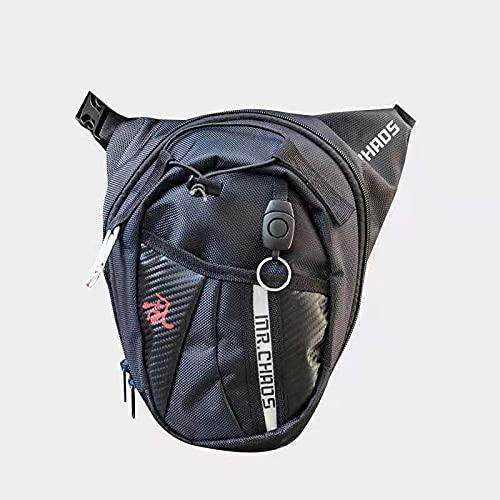 Bolsa Pierna Moto Pernera Moto Riñonera Bolsa de cinturón de los hombres Bolsa de muslo a prueba de muslos Paquete de la cintura Moto Paquete de la bolsa de la cintura de la cintura de la cintura HIP