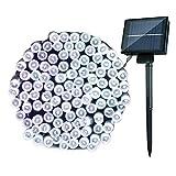 Guirlande lumineuse solaire Extérieure - 25M 250 LED Jardin Guirlande Lumineuse Etanche,avec 8 modes pour Jardin, Mariage, Fête, Anniversaire,Noël pour Lampe Décoratives(Froid Blanc)