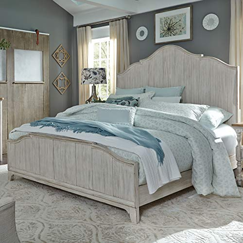 Liberty Furniture Industries Farmhouse Reimagined Panel Bed, California King, Antique White