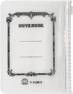 エムプラン ツバメノート スライドジップケース カードサイズ ホワイト 2冊 010125-01