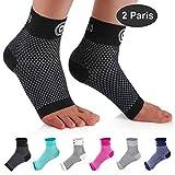 CAMBIVO 2 Paar Sprunggelenk Bandage, Knöchelbandage, Fußbandage für Herren und Damen,...