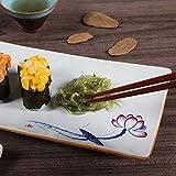 CZDXM Plato Creativo Sushi Restaurante Especial Plato Floral Repostería Postre Plato De Porcelana Rectangular Pintada A Mano