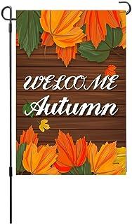 ASKLKD Happy Halloween Garden Bannière, Design d'impression Double Face Saisonnier Bienvenue Drapeau Drapeau Jardin Décora...