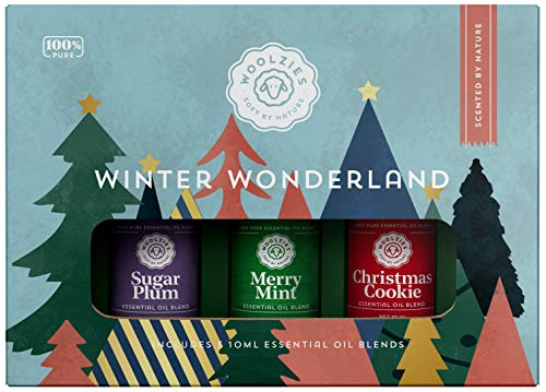 Woolzies Winter Wonderland Holiday Essential Oil Set of 3   Includes Christmas Cookie, Sugar Plum & Merry Mint 10ML