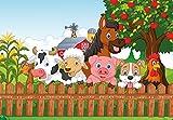 PICSonPAPER Hochwertiges Kinderposter Tiere am Bauernhof,
