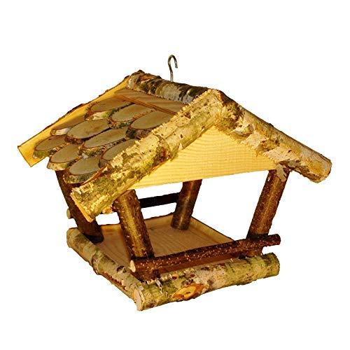 Vogelhäuschen, Vogelhaus, Vogelfutterhaus zum aufhängen aus Naturholz, handgefertigt