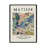 Imágenes de arte de pared de exposición de estilo colorido abstracto, carteles e impresiones nórdicos de Matisse, pinturas de lienzo sin marco A2 15x20cm