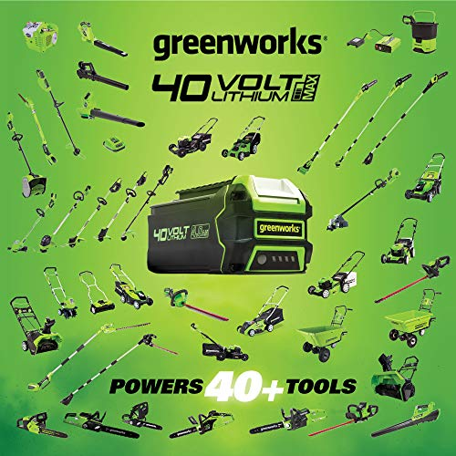 Greenworks 24252 40V 150 MPH Variable Speed Cordless Leaf Blower, 2.0Ah Battery and Charger Included